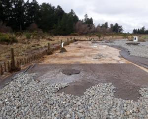 Flood damage on the ground layers above the Methven intake gallery, which is 4m below the surface...