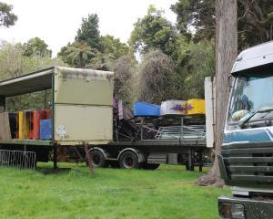 Some of the fairground ride machinery stored near Pounawea Motor Camp. PHOTO: NICK BROOK
