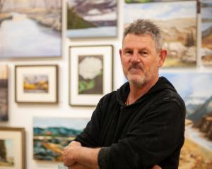 Central Otago Art Society president Nigel Wilson at Central Stories ahead of the society's 65th...