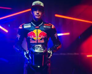 Buchanan prepares for a Rookies Cup race in Portugal.