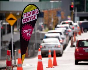 A Covid testing station in Auckland. Photo: NZ Herald