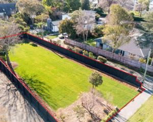 This 610sq m empty section in Fendalton attracted a lot of heat at auction last week. Photo:...