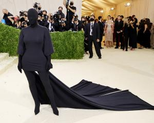 Kim Kardashian attends the Metropolitan Museum Gala Ball in New York last week. PHOTO: GETTY IMAGES