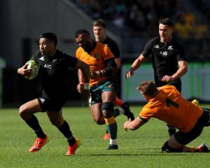 Reiko Ioane surges past the defence Perth. Photo: Getty Images