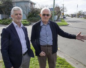 Trevor Foster (left) and Clyde Penhelig Residents Association chairman Ian Cumberpatch have been...