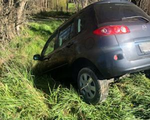A Prebbleton resident found his son's car crashed near a creek after it was stolen the previous...