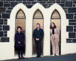 Otepoti Playwrights Programme participants 2021 (from left) Jessica Latton,  Martin Swann and Amy...