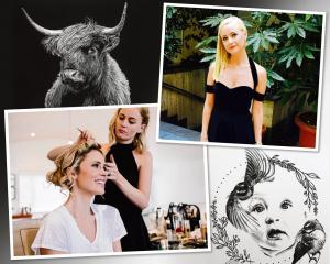 Auckland artist Bridget Harding has developed a career in hair and make-up artistry and painting....