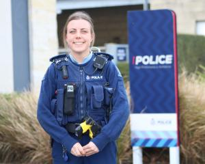 Oamaru's newest constable, Steph Coubrough, loves her new job. PHOTO: KAYLA HODGE