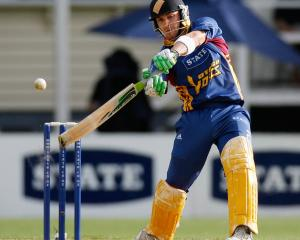 Brendon McCullum lashes out on his way to a century for the Otago Volts in the domestic one-day...