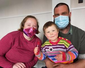 Lumsden couple Shannon and Danny Douglas, pictured with their daughter Merida (3), received their...