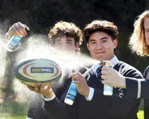 Otago Boys' High School year 13 pupils (from left) Daniel Torr, Harry McLachlan and Xavier...