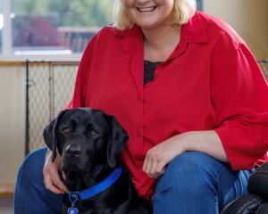 Brenda Ferguson says her assistance dog Pip is a life-saver. PHOTO: SUPPLIED