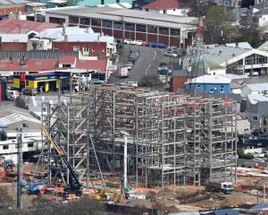 The last foundation pile was driven at the Te Rangihiroa College construction site in Dunedin...