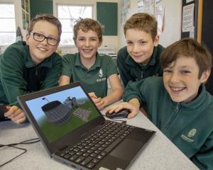 Liam Homan, Daniel Drury, Will MacIntyre and Finn Butchers put their Minecraft skills to good use...