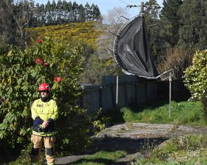 Fire and Emergency New Zealand crews go to a Brockville property after a trampoline crashed into...