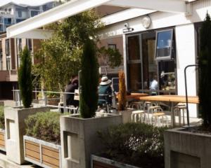 Prefab cafe in Wellington. Photo: NZ Herald