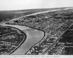 An aerial view of Wanganui. — Otago Witness,  29.11.1921.