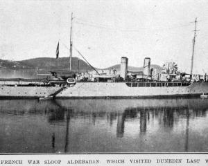 THE French war sloop Aldebaran which visited Dunedin. — Otago Witness, 25.10.1921. COPIES OF...