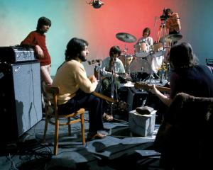 The Beatles at Twickenham film studios  in January 1969. PHOTO: ETHAN A. RUSSELL