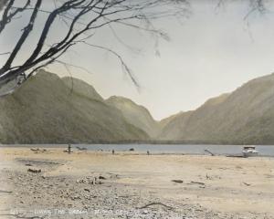 Bridget Reweti, 4870 — LIVING THE DREAM, 2021. Whenua coloured silver gelatin photograph.