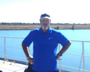 Mariner Bruce Blackburn, stuck aboard a ship and unable to get home to New Zealand. PHOTO: SUPPLIED