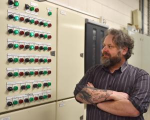 University of Otago energy and building controls manager Shane Jenkins in front of one of the...