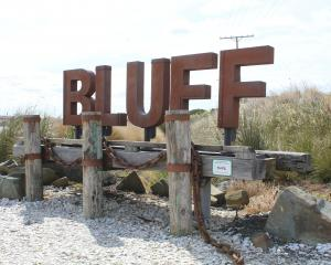 The popular Bluff sign will be kept in its current location after community feedback. PHOTO:...