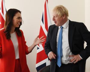 Prime Minister Jacinda Ardern meets UK Prime Minister Boris Johnson at the United Nations...