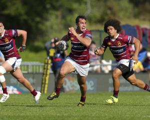 Matt Whaanga of Southland breaks away for a try against Wellington in the capital. Photo: Getty...