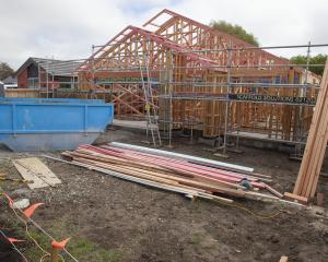 A house being built at Milns Park. City council data shows Halswell's population increased by...