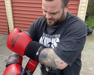 James Bates training ahead of the charity event. Photo: Supplied