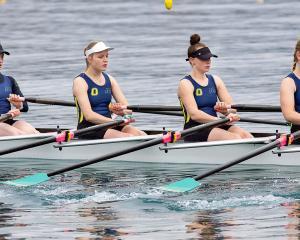 Otago rowers (from left) Ella Price, Saskia Klinkenberg, Kate Pitcaithly and Emily Broomfield...