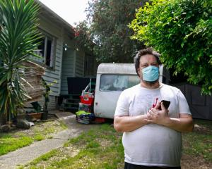 Ratana Clarke said he couldn't enter the house because he was very scared of getting Covid. Photo...