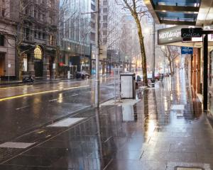 Melbourne is still under lockdown with central city streets empty of people. Photo: Getty Images