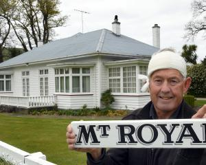 Fraser Wilson, bandaged up after a surgical procedure, believes the Mount Royal Homestead belongs...