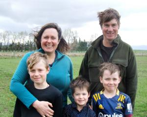 Ida Valley farmers Amy and Cam Nicolson, pictured with sons (from left) Alasdair, Emmett and...