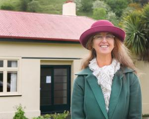 Farewell ... Lynley Caldwell says goodbye to  Janet Frame House after curating it for nine years....