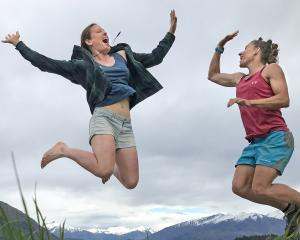 Wanaka endurance athletes Emily Wilson (left) and Simone Maier plan to have fun going head to...