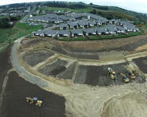 Work on Observatory Village's new development in Oamaru is under way. PHOTO: SUPPLIED/SURVEY WAITAKI