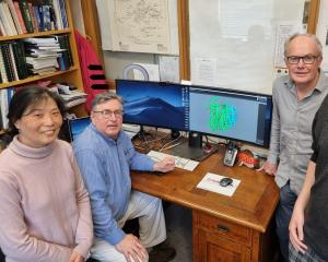 University of Otago research team members (from left) assistant research fellow Helen Opel...