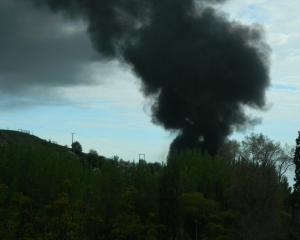 Black smoke was seen billowing into the sky above the refuse station. Photo: Supplied