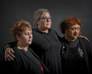 Bereaved mothers (from left) Susan Mataki, Maree Landrebe and Vicki Taylor-Blair, whose sons were...