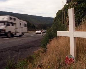 Memorial crosses are allowed alongside state highways. PHOTO: ODT FILES