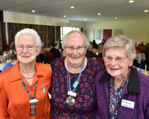 Rural women (from left) Fay Taylor, Ann Murphy and Isabel Sutherland celebrate 90 years of the...