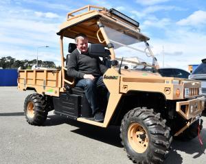 The Electric Motor Vehicle Company director Alex de Boer in an eTuatara ATV. PHOTO: LAURA SMITH