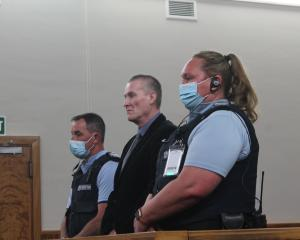Rodney Stuart Fallowfield during his sentencing in the High Court at Invercargill. PHOTOS: LUISA...