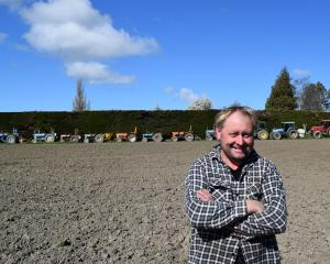 Armstrong and Co manager Grant Robb shares a paddock with a fleet of vintage tractors. PHOTO:...