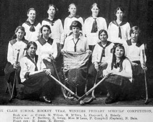 The St Clair School girls' hockey team, winners of the primary schools competition. — Otago...