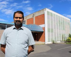 Otago Muslim Association president Dr Mohammed Rizwan shows where a second floor could help...